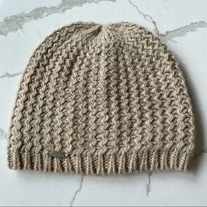 Calvin Klein Beanie Hat Tan knit One Size